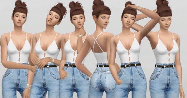 Simsworkshop: Simple Model V.4  15 poses by catsblob