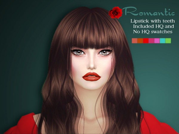 The Sims Resource: Sharareh Romantic lipstick