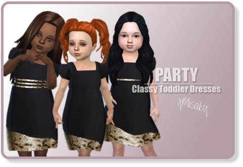 Xmisakix sims: Toddlers Classy Dress