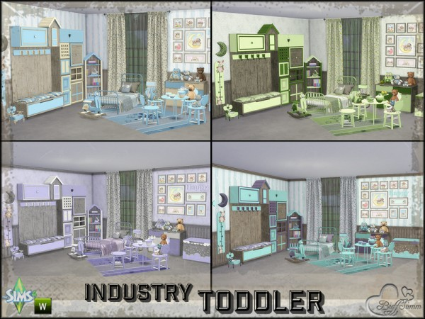 The Sims Resource: Toddler Room Industry by BuffSumm