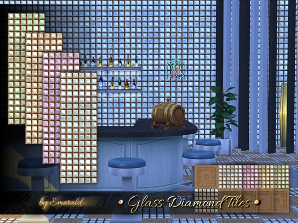 The Sims Resource: Glass Diamond Tiles by emerald