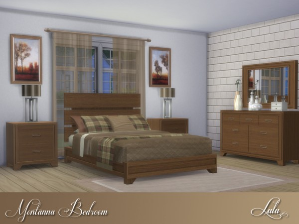 The Sims Resource: Montanna Bedroom by Lulu265