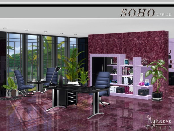 The Sims Resource: Soho Office by NynaeveDesign