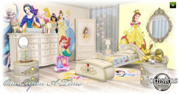 Jom Sims Creations Once Upon A Time Kidsroom Sims 4