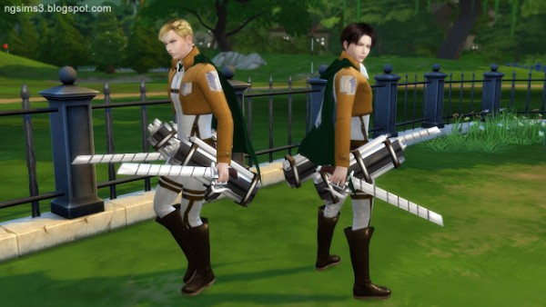 NG Sims 3: Attack on Titan Levi and Erwin