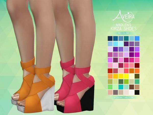 Aveira Sims 4: Madlen's Kirza Shoes Recolor