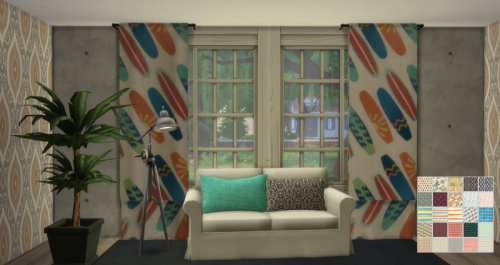Chillis Sims: Sheer Curtain