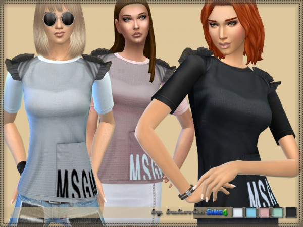 The Sims Resource: T shirt and Wings by bukovka