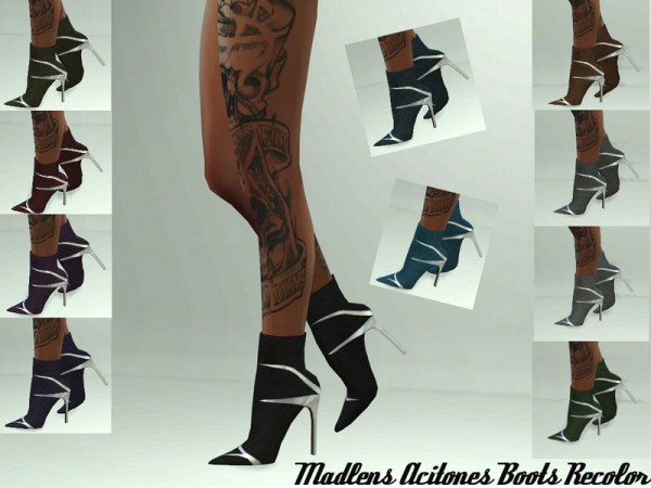 The Sims Resource: Acitones Boots Recolored by Teenageeaglerunner