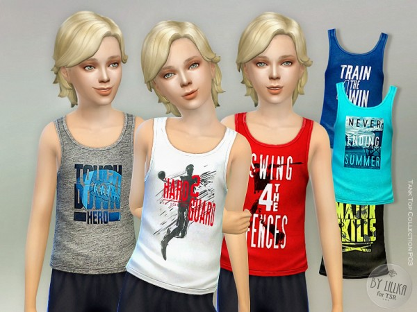 The Sims Resource: Tank Top Collection P03 by lillka