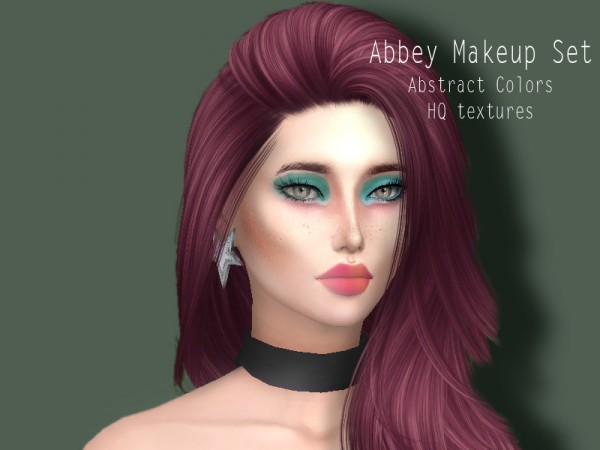 The Sims Resource: Abbey Makeup set by Sharareh