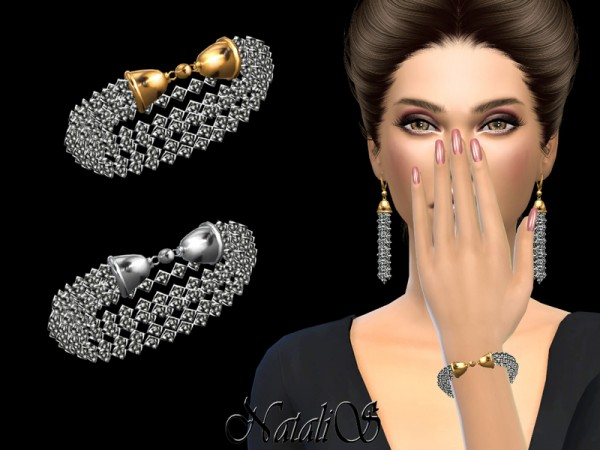 The Sims Resource: Crystal Multi strand Bracelet by NataliS