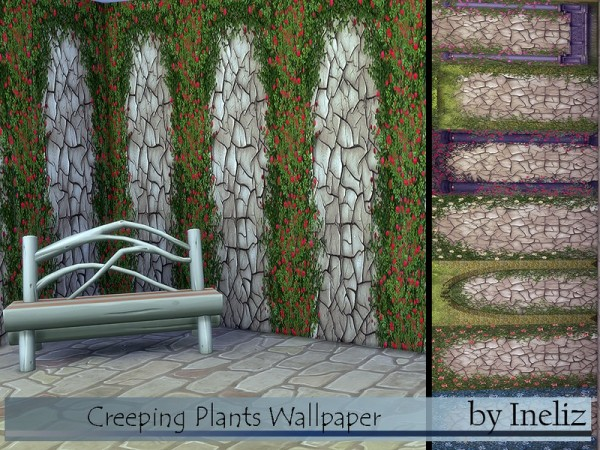 The Sims Resource: Creeping Plants Wallpaper by Ineliz