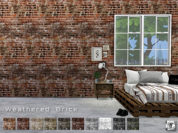 The Sims Resource: Weathered Brick Walls by .Torque