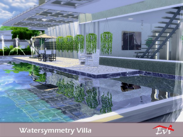 The sims resource watersymmetry villa by evi sims 4 for Pool design sims 3