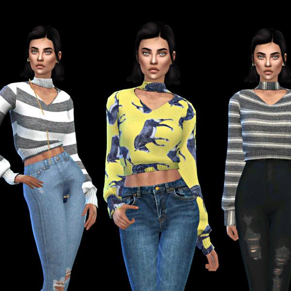 Leo 4 Sims: Cherry Sweater