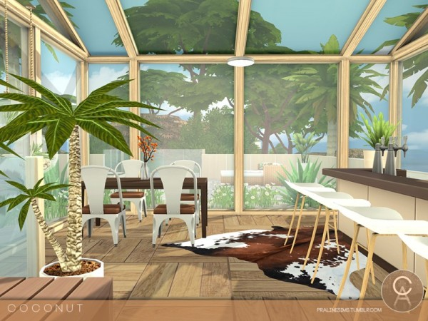 The Sims Resource Coconut House By Pralinesims Sims 4
