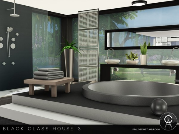 The Sims Resource: Black Glass House 3 by Pralinesims