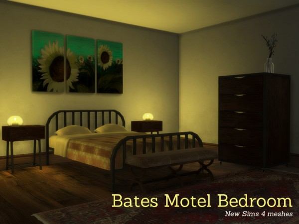 The Sims Resource: Bates Motel Bedroom by Angela