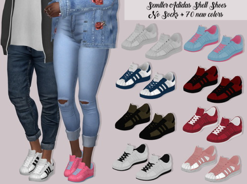 Sims 4 Cc Shoes | lumysims adidas shell shoes no socks
