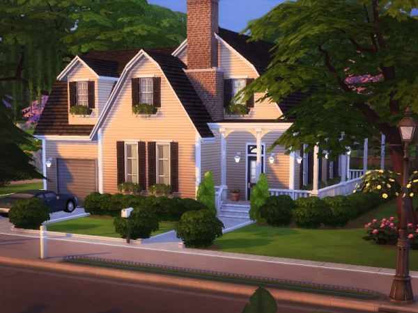 The Sims Resource: Spring Breeze House   NO CC! by melcastro91