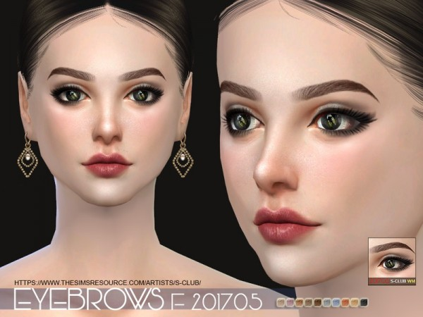The Sims Resource: Eyebrows F 201705 by S Club