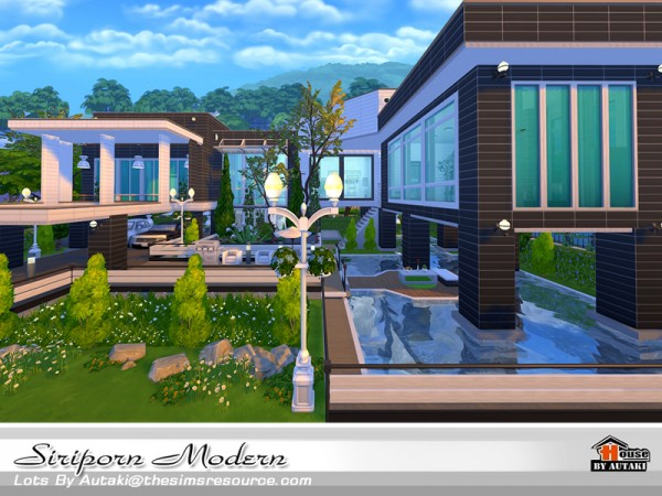 The sims resource siriporn modern house by autaki sims for Modern house design sims 4