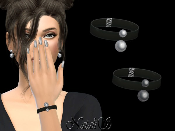 The Sims Resource: Double pearl bracelet by NataliS