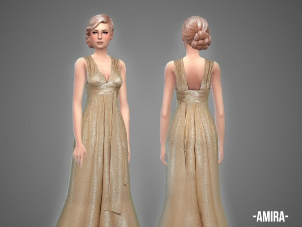The Sims Resource: Amira   gown by April