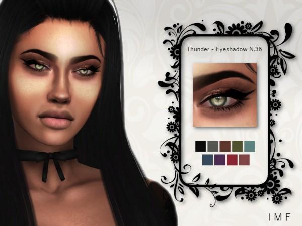 The Sims Resource: Thunder Eyeshadow N.36 by IzzieMcFire