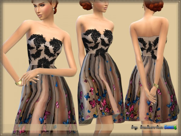 The Sims Resource: Butterfly Dress by bukovka
