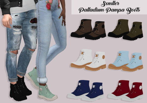 Lumysims Palladium Pampa Boots Sims 4 Downloads