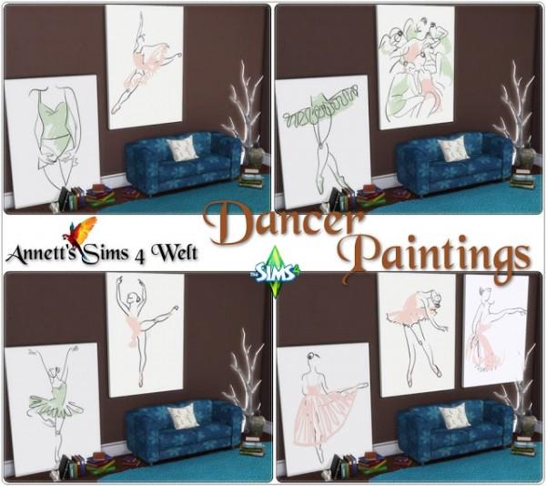 Annett`s Sims 4 Welt: Dancer paintings