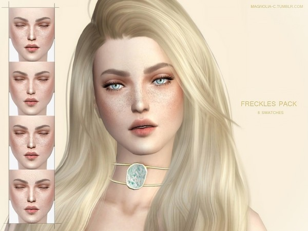 The Sims Resource: Freckles Pack by magnolia c