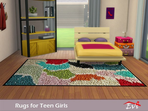 the sims resource rugs for teen girls by evi sims 4 downloads. Black Bedroom Furniture Sets. Home Design Ideas
