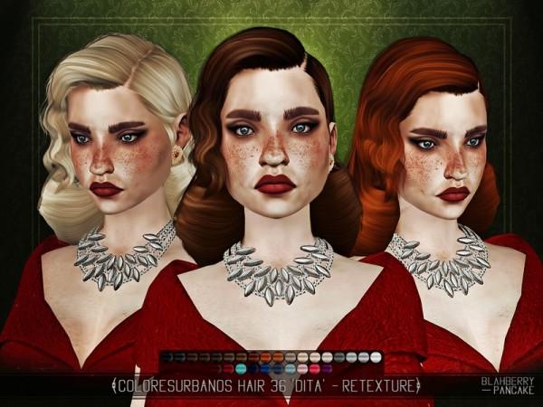 The Sims Resource: Curbs Hair Dita Von Teese by Blahberry Pancake