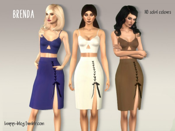 The Sims Resource: Brenda dress by Laupipi