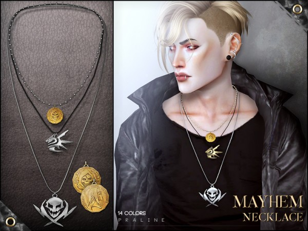 The Sims Resource: Mayhem Necklace by Pralinesims