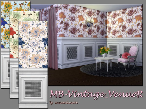 The Sims Resource: Vintage VenueR walls