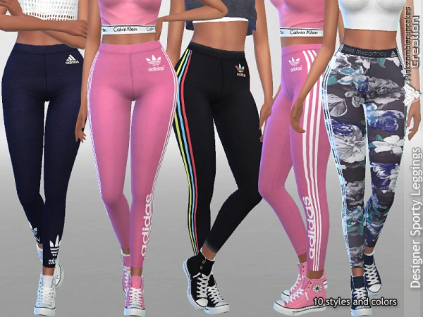 The Sims Resource: Designer Sporty Leggings Collection 01 by Pinkzombiecupcakes
