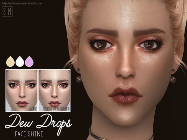 The Sims Resource: Dew Drops    Face Shine by Screaming Mustard