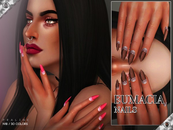 The Sims Resource: Eumacia Nails N18 by Pralinesims