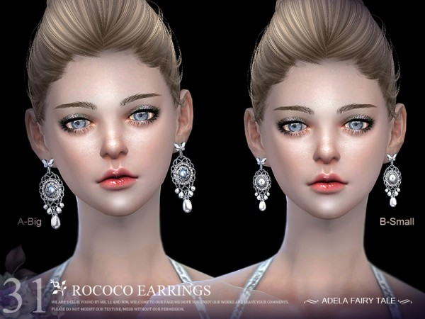 The Sims Resource: Earrings N31 by S Club