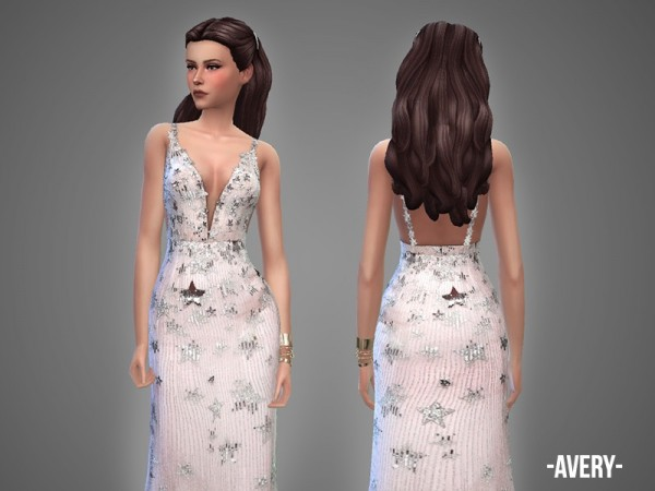 The Sims Resource: Avery   gown by April