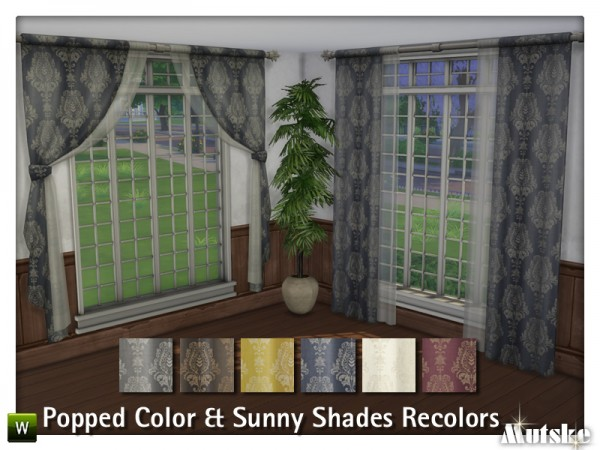 The Sims Resource: Popped Colors and Sunny Shade Curtain Recolors