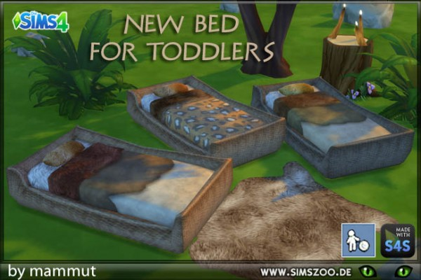 Blackys Sims 4 Zoo: Toddlers Bed Fur by mammut