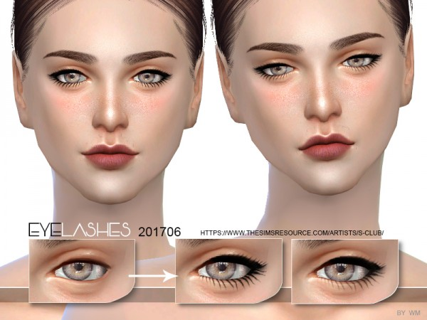 The Sims Resource: Eyelashes 201706 by S Club
