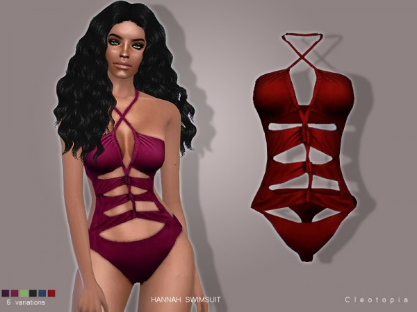 The Sims Resource: Set79  HANNAH Swimsuit by Cleotopia
