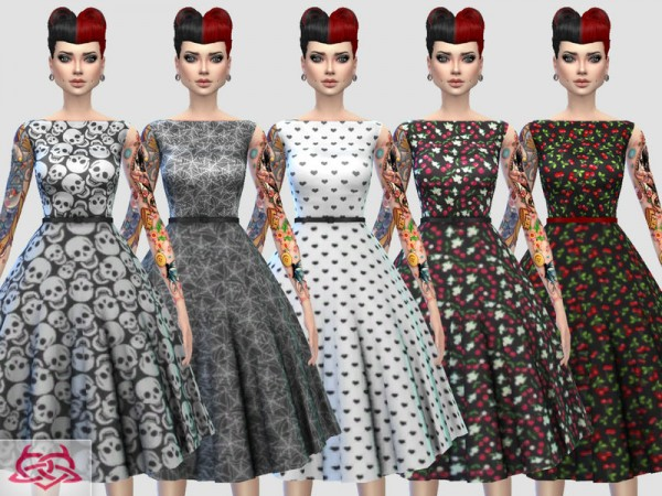 The Sims Resource: Eugenia dress recolor 3 by Colores Urbanos