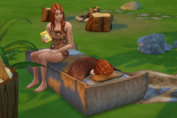 Blackys Sims 4 Zoo Toddlers Bed Fur By Mammut Sims 4